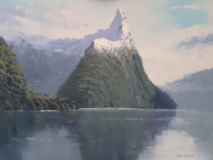 Calm moment in Milford Sound